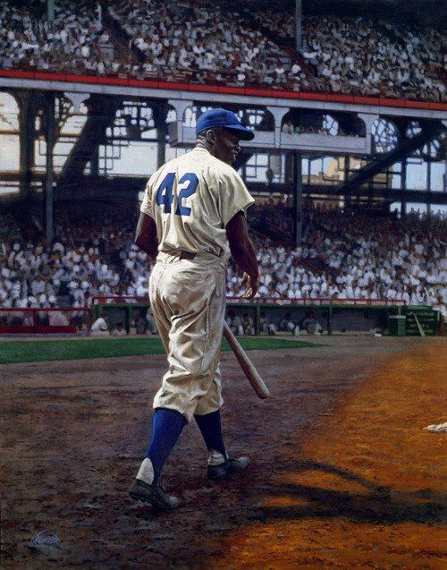 Jackie Robinson first African American to play in the Major Leagues.